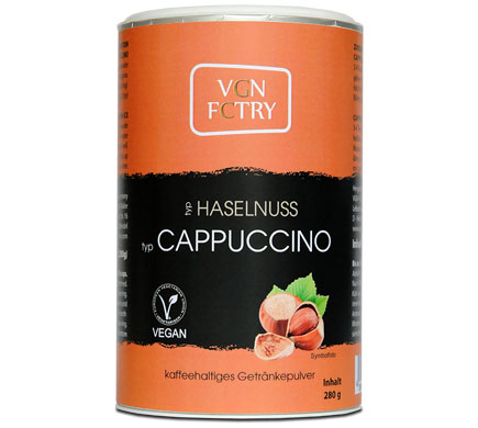 VGN FCTRY Instant Cappuccino Hazelnoot 280g