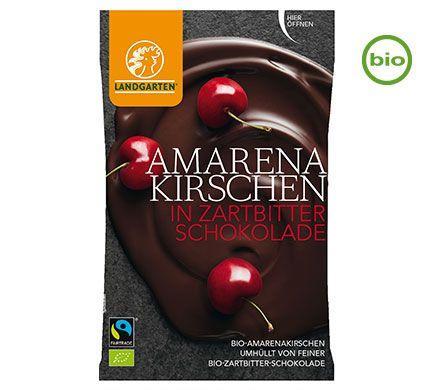 Landgarten Choco Amarenakersen BIO 50g