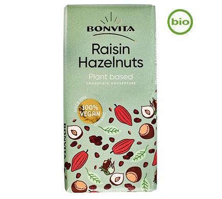 Bonvita Chocolade Rijstmelk Hazelnoot Rozijn BIO 100g