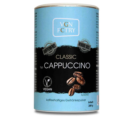 VGN FCTRY Instant Cappuccino Caffeïnevrij 280g