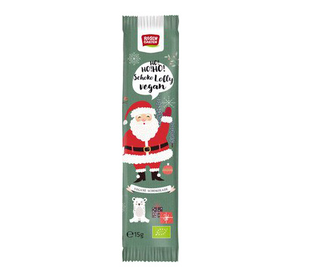 Rosengarten Naturkost Chocololly Kerstman BIO 15g