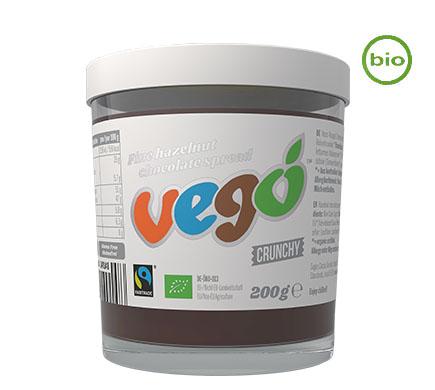 VEGO Chocopasta Hazelnoot Crunchy BIO 200g