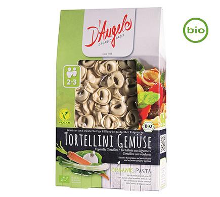 D'Angelo Tortellini met groenten BIO 250g