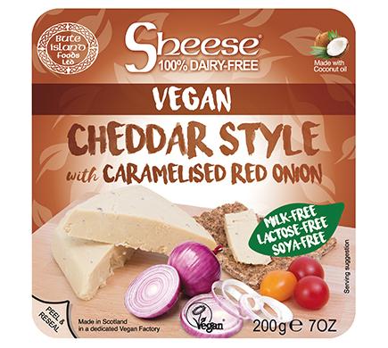 Sheese Cheddar met Gekarameliseerde Rode Ui 200g