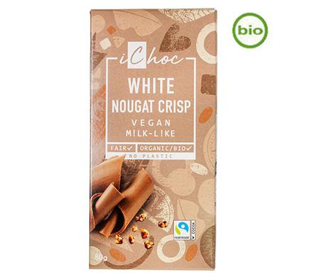 Rice Choc White Nougat Crisp BIO 80g