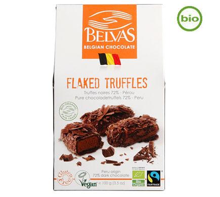 Flaked Truffels Puur 72% BIO 100g