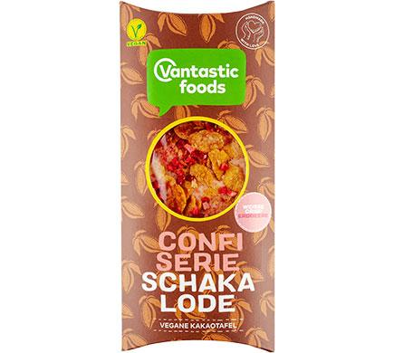 Witte Schakalode Aardbei Cornflakes 80g