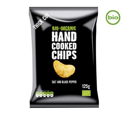 Handcooked Chips Zout & Zwarte Peper BIO 125g